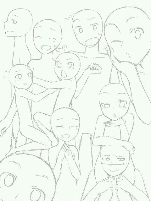 Bases Para Dibujos 1 Zeichnungen Zeichnung Tutorial Manga Malen