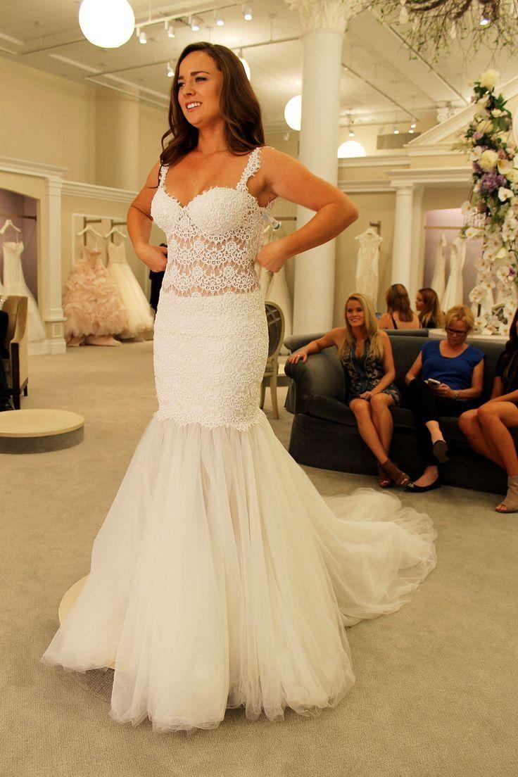 Season 14 Featured Dress: Pnina Tornai. Lace mermaid, V-neck, low ...