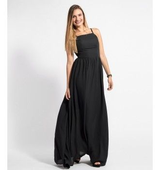 85a3869bac02 Maxi Φορεμα με Κορσέ Πλάτη και Cups - Μαύρο