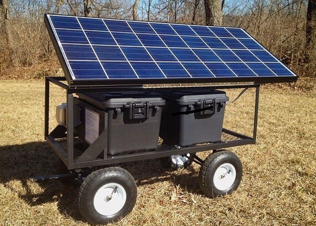 Check Out This Portable Solar Powered Ground Mount And Generator Solar Panels Solar Generator Solar