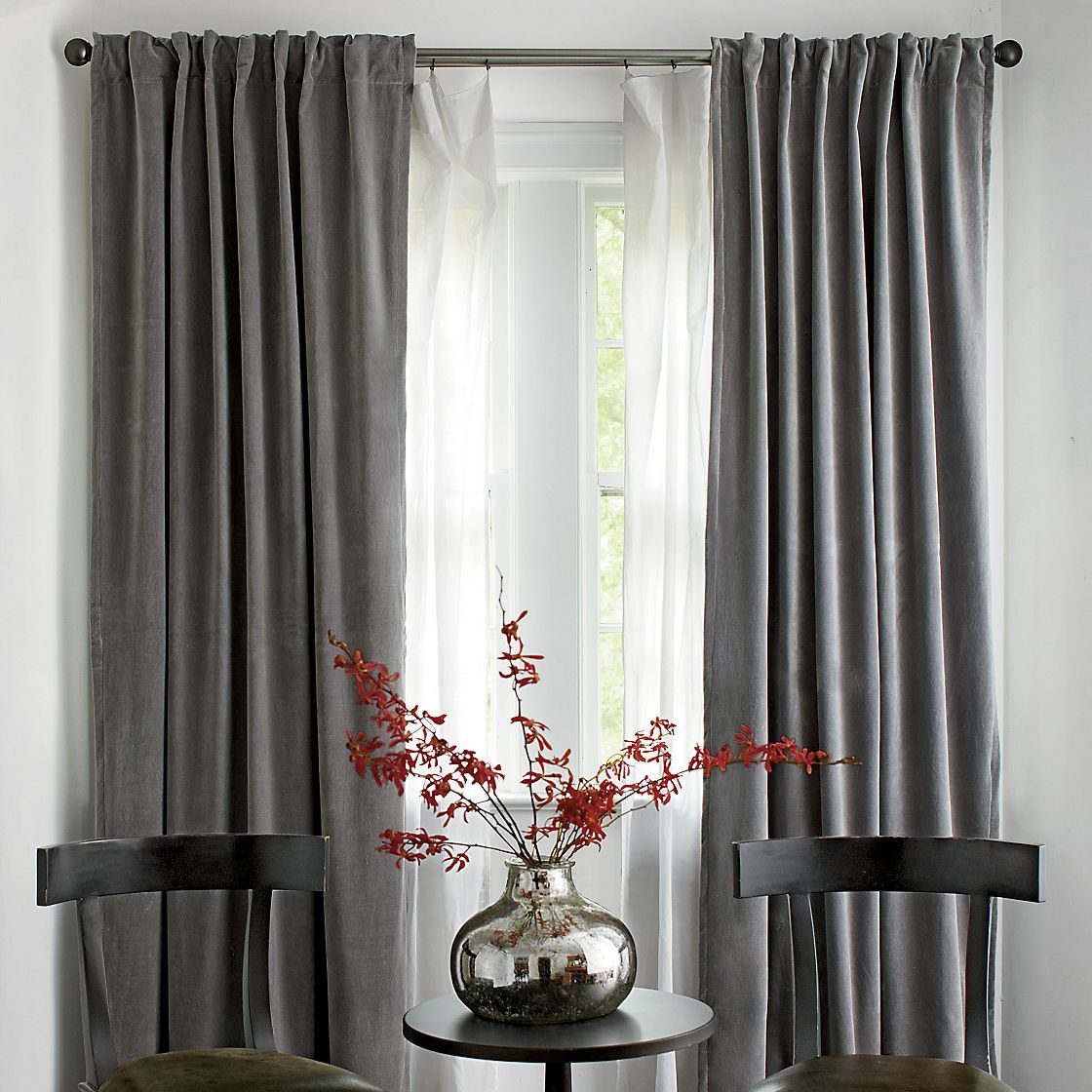 Velvet window panels the company store home curtains