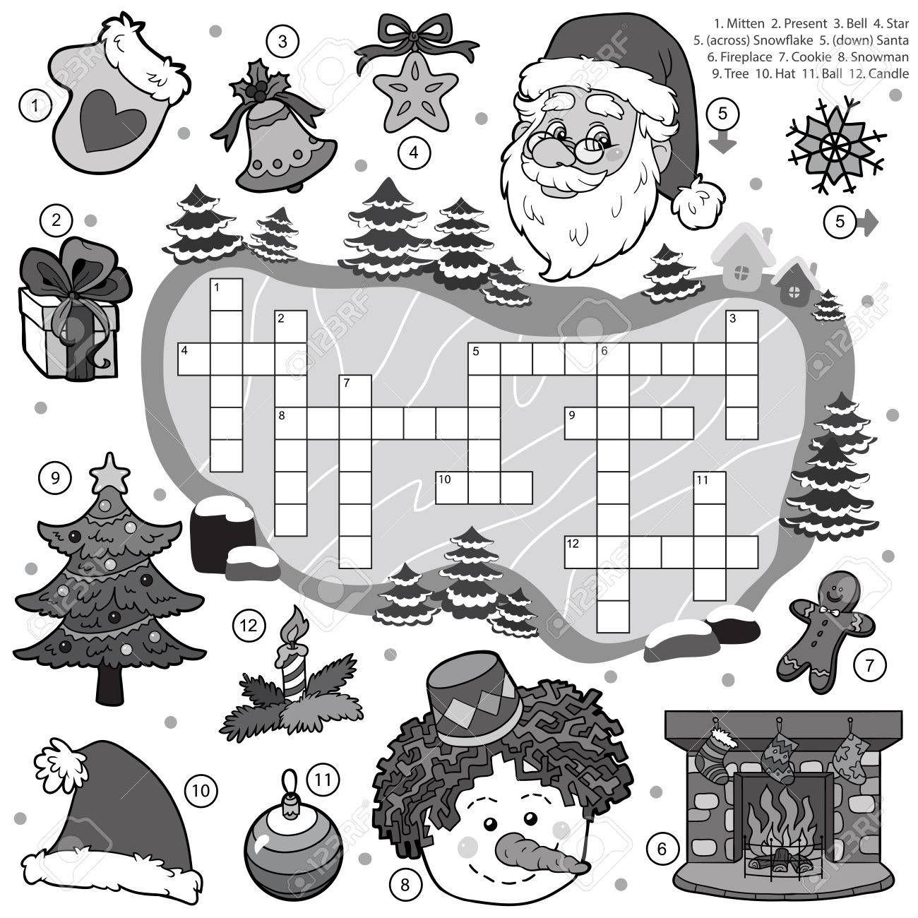 Stock Photo Games for kids, Crossword, Games