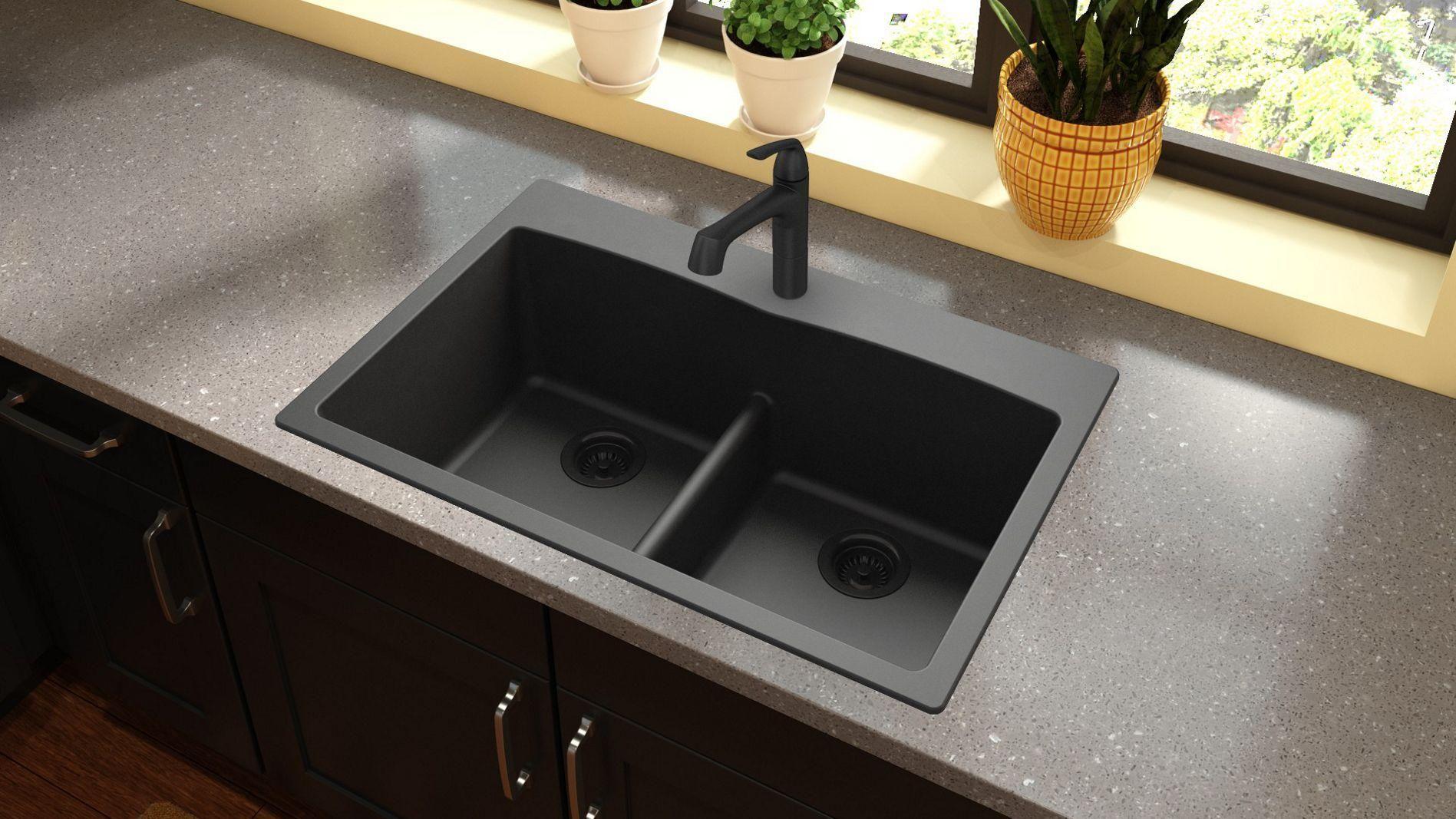 Elkay Elgdlb3322 Quartz Classic 33 Kitchen Sink Composite