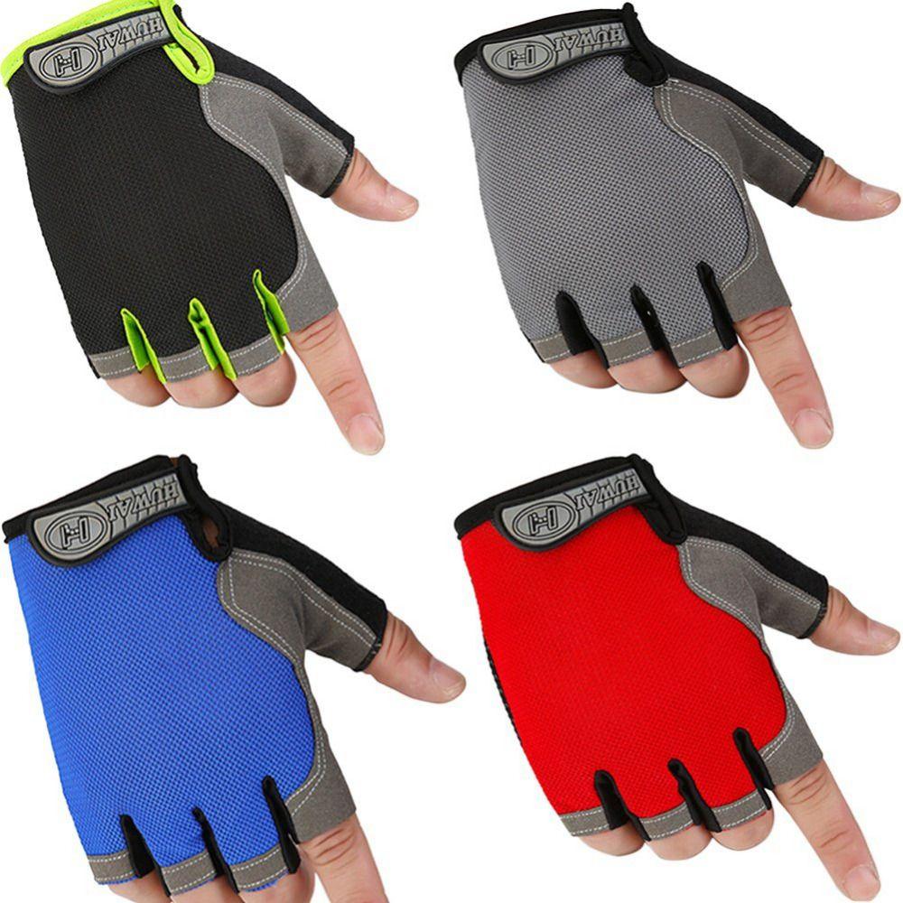 1 Pair Fitness Half Finger Gloves Outdoor Multifunction Sports