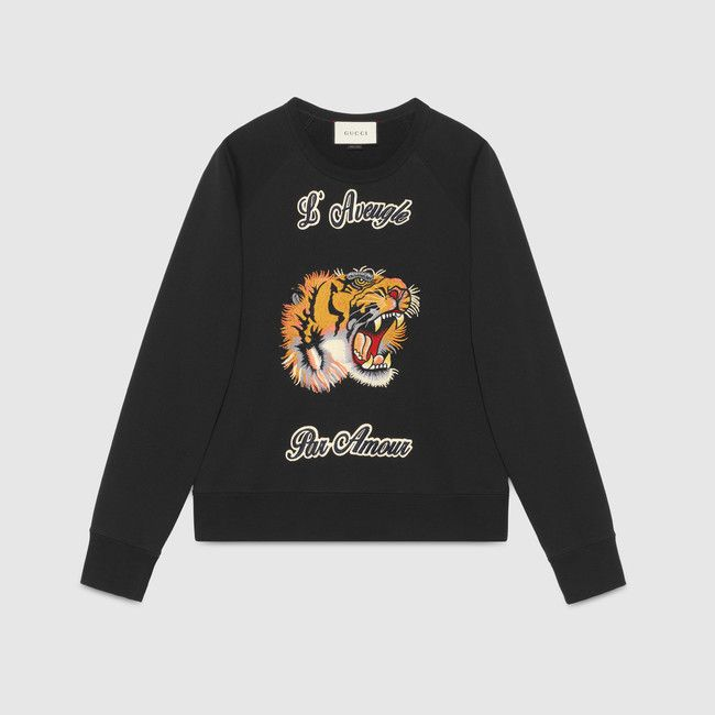 Gucci Cotton sweatshirt with tiger $950 / 790 EUR.