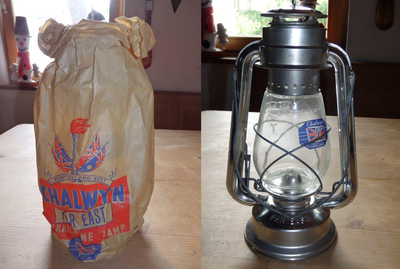 Vintage Chalwyn Hurricane Lamp Ex Mod British Army Oil Paraffin