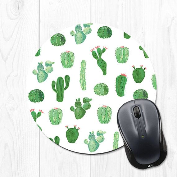 Cactus Mouse Pad Gift Desk Decor Dorm Decor Office Decor Mousepad Office  Supplies Green Cute Cubicle Decor Office Accessories   Cco