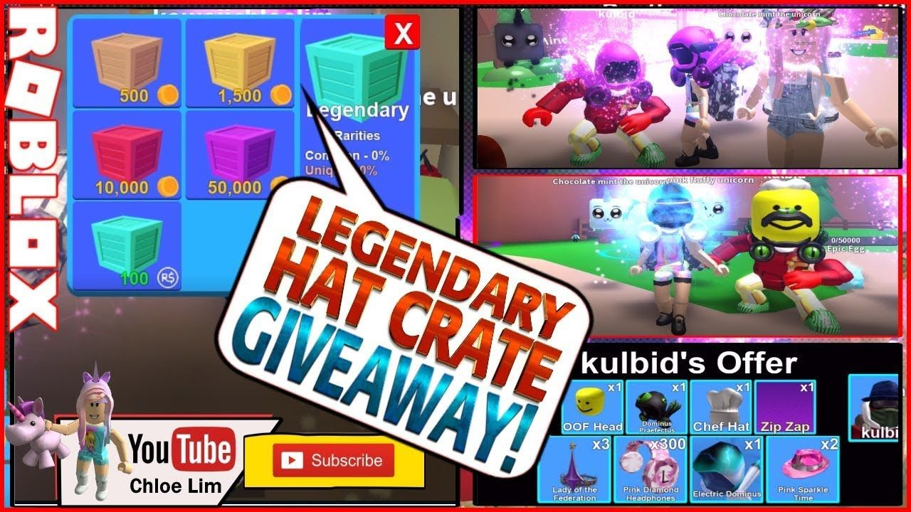 Update Mining Simulator 3 Legendary Hat Crate Giveaway See