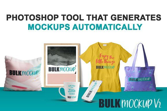Bulk Mockup Photoshop Tool by Bulk Mockup on @creativemarket