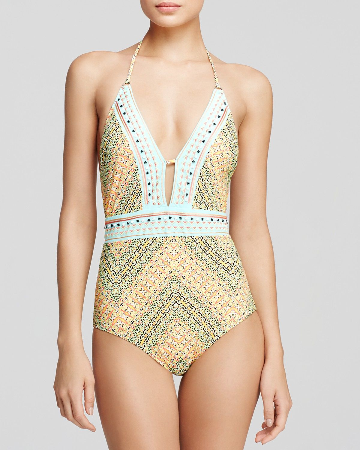 Nanette Lepore Paso Robles One Piece Swimsuit Bloomingdale S Swimsuits One Piece Women Swimsuits