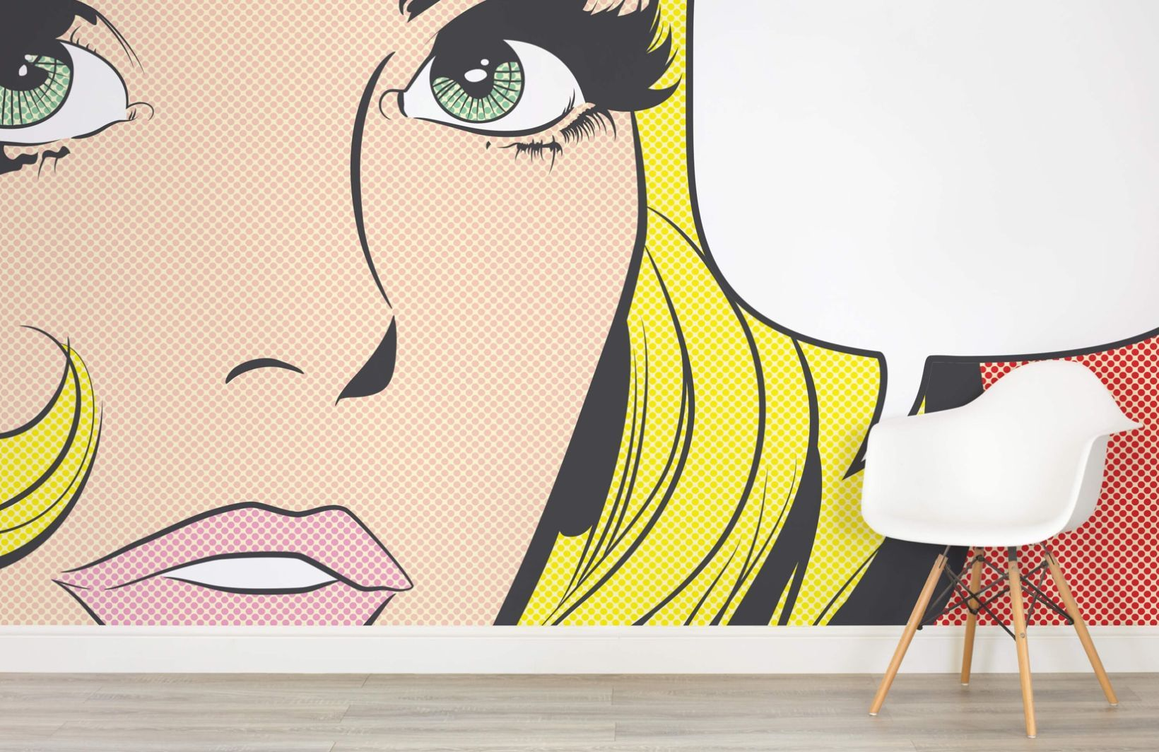 Pop Art Woman Wallpaper Wall Mural | Art women, Wall murals and ...