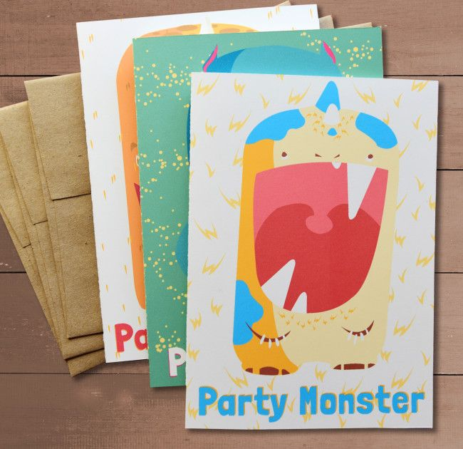 Party monster greeting card box set greeting card box sets party monster greeting card box set m4hsunfo