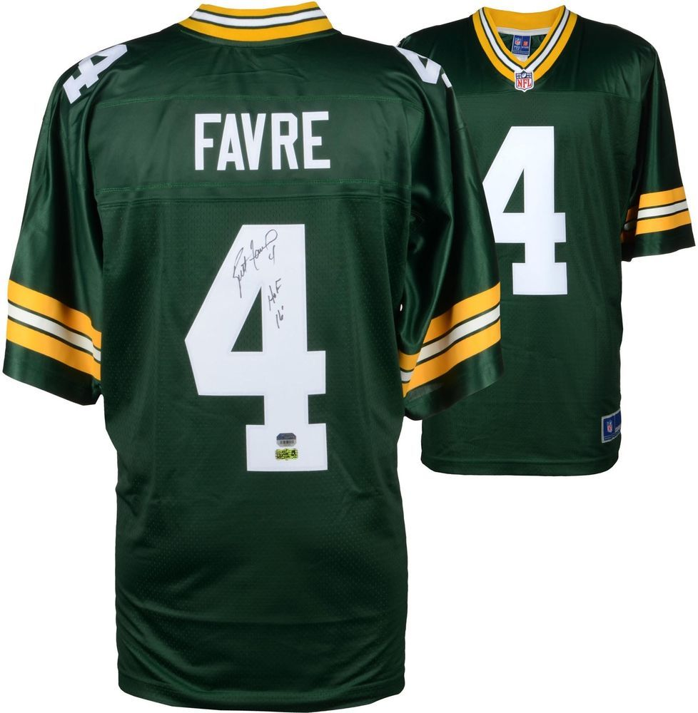Brett Favre GB Packers Signed Green Pro-Line Jersey w