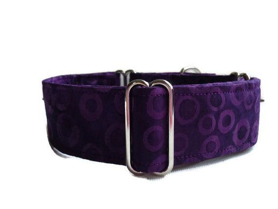 Dog Collar  Adjustable Martingale  1.5  Medium by SEWANNE on Etsy, $15.00