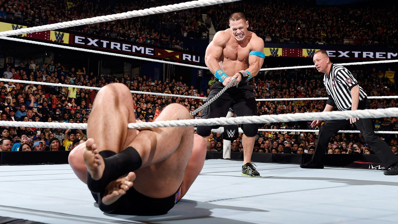 Extreme rules 2015 john cena vs rusev russian chain match for the wwe united