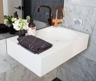 Loving Dean And Shayu0027s Beautiful Powder Room From Week 5 Of The Block  Especially The Omvivo Neo Basin With The Rose Gold Tapware   A Beautiful  Touch.