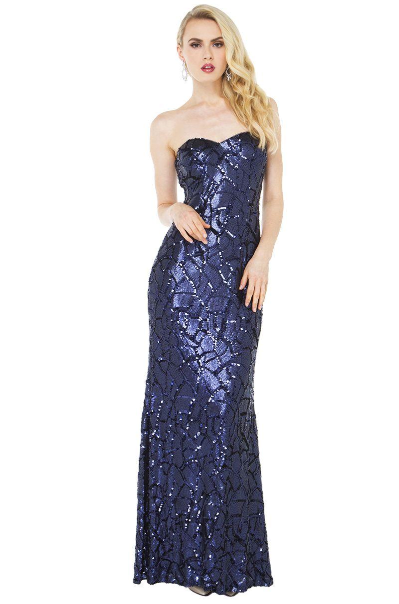 Bariano long black dress