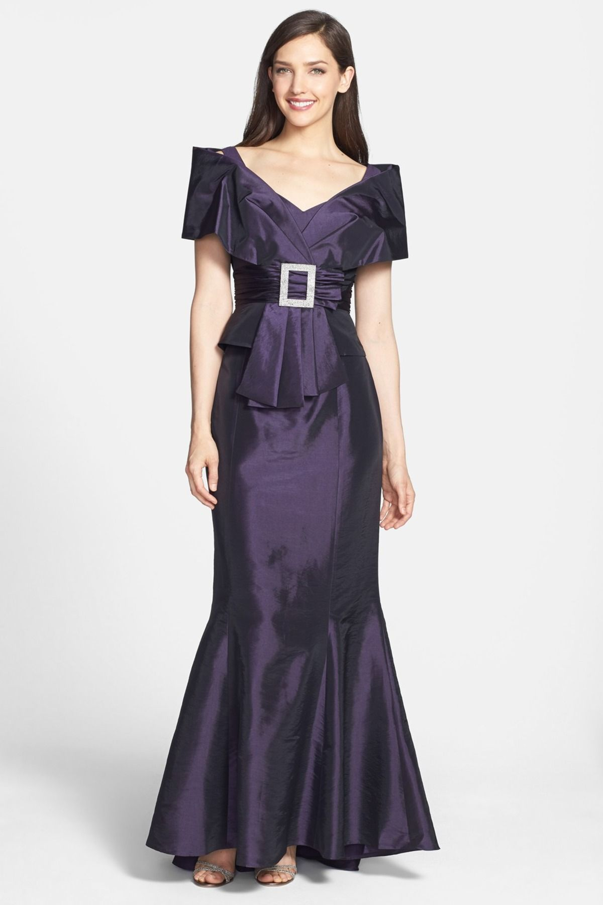 Mother of the bride wedding dresses nordstrom  Taffeta Jacket with Trumpet Skirt  Fashion  Pinterest  Trumpets