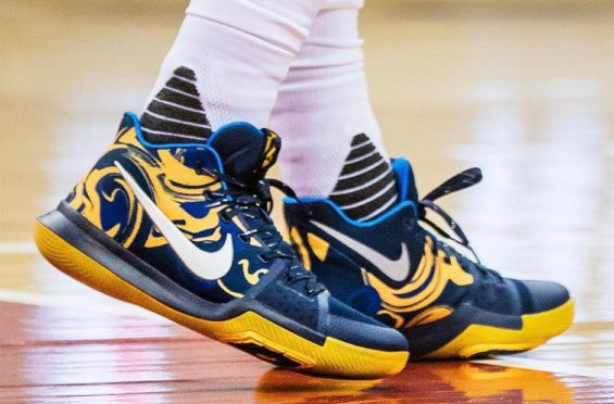 Kyrie Irving Wore This Detailed And Luxe Looking Nike Kyrie 3 PE Last Night