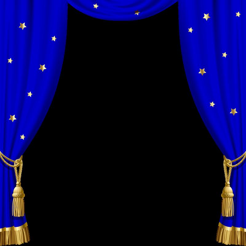 Театр артист Klipart Blue Curtains Curtains Star