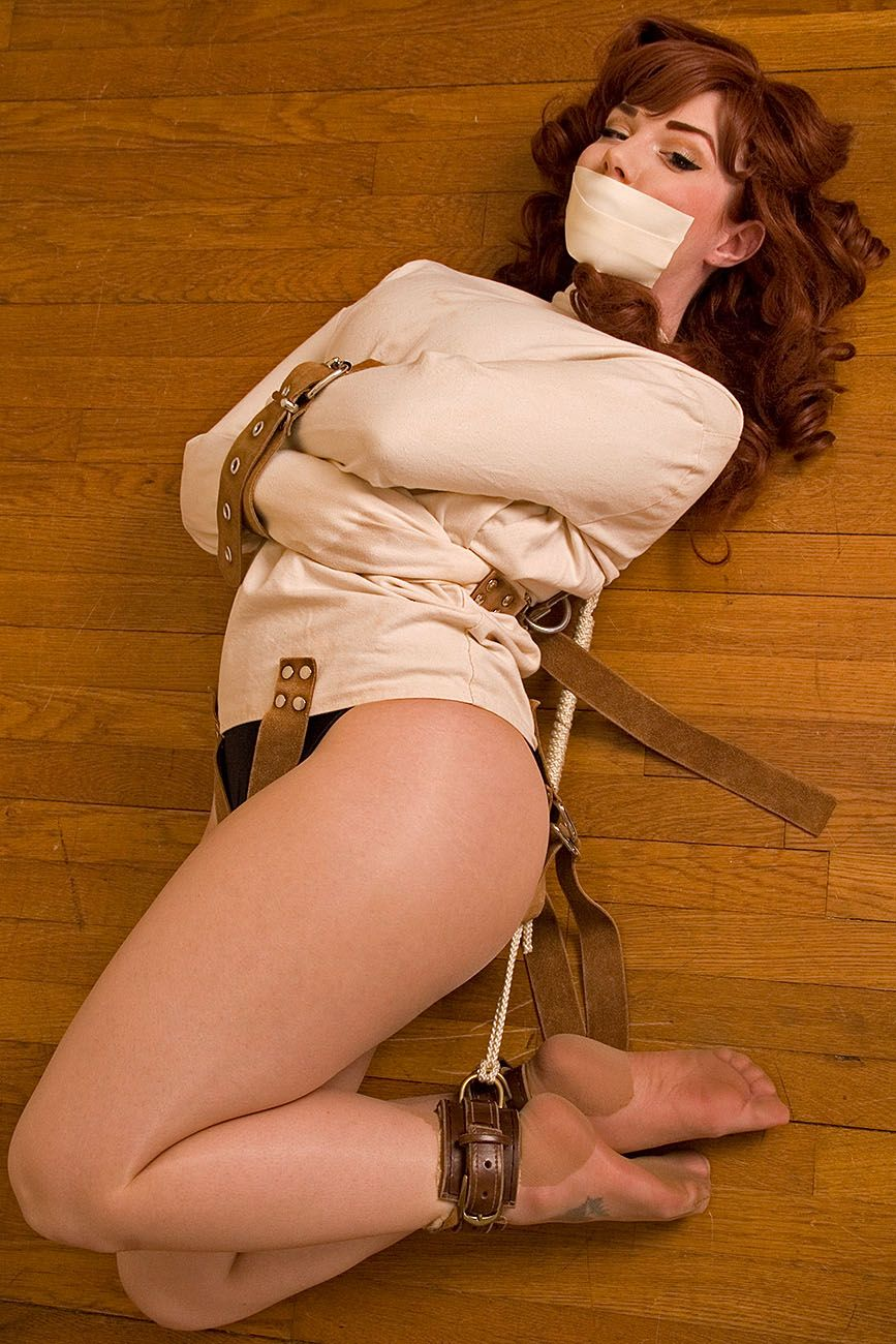 image Girl tied gagged and fucked whipped cream