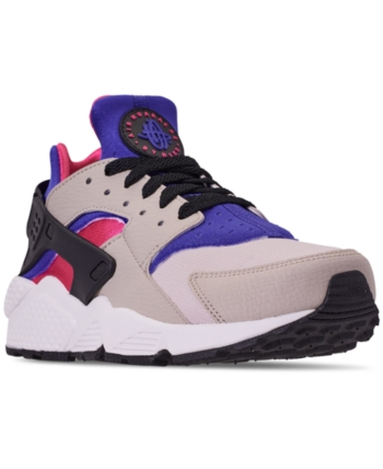 00a2bd6464fe5 Nike Men s Air Huarache Run Running Sneakers from Finish Line - Gray 11.5