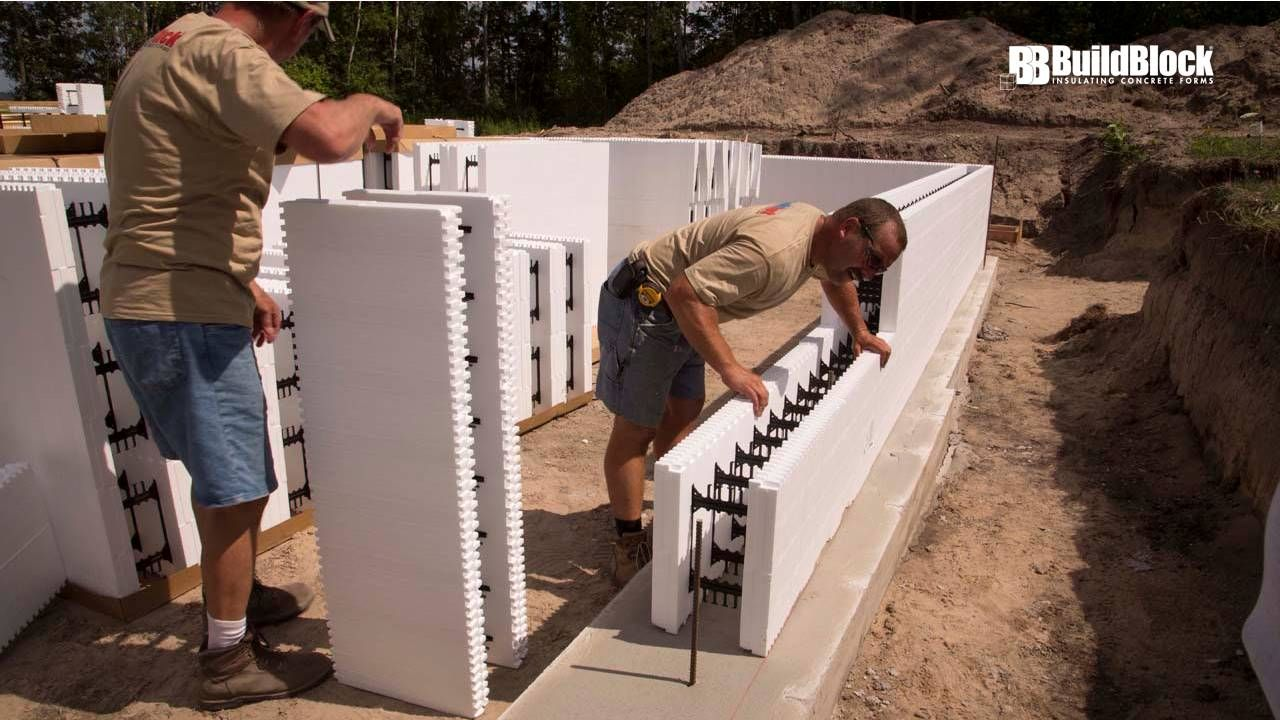 Basic Icf Construction In 22 Steps Construction House Foundation Icf Blocks