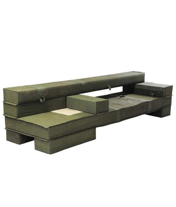 Chunky Upholstered Beam Bench