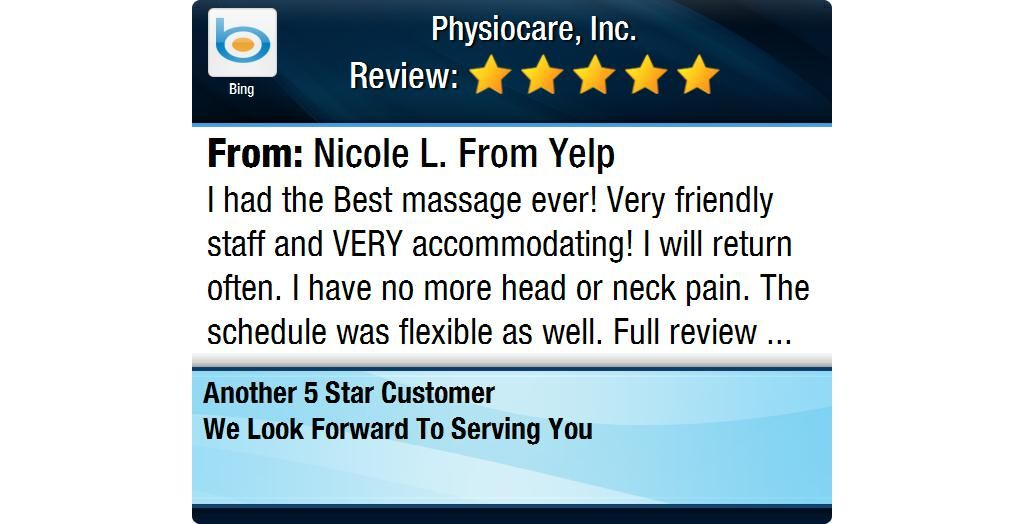 I Had The Best Massage Ever Very Friendly Staff And Very Accommodating I Will Return Good Massage Bad Headache Google Reviews