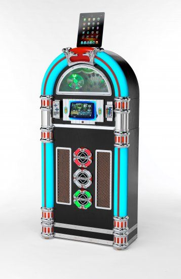 Hi tech full size Jukebox in store, touch screen, DVD/CD