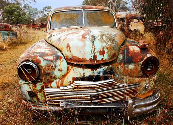 Old Rusty Car Amazing Surface Study And Wonderful Colours With