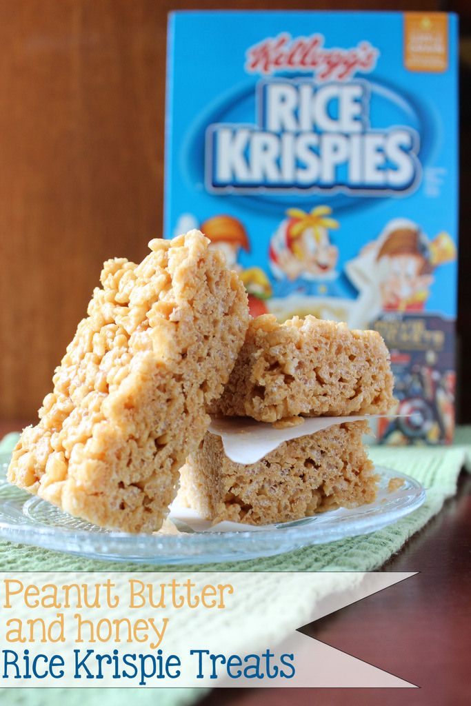 Peanut butter and honey rice krispie treats rice krispie treats yes you can make rice krispie treats without marshmallows and they turn our better ccuart Choice Image