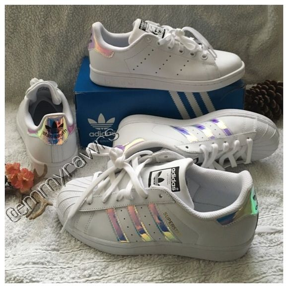 adidas shoes for girls stan smith. sold sz 7 \u2022 adidas superstar iridescent stripes. holographic heelsadidas stan smithadidas superstaradidas shoesshoes shoes for girls smith