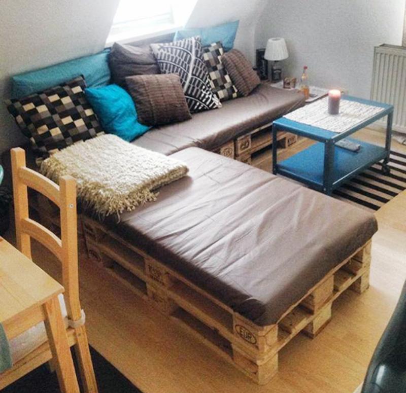 DIY Paletten Sofa Muebles de tarima de madera, Muebles