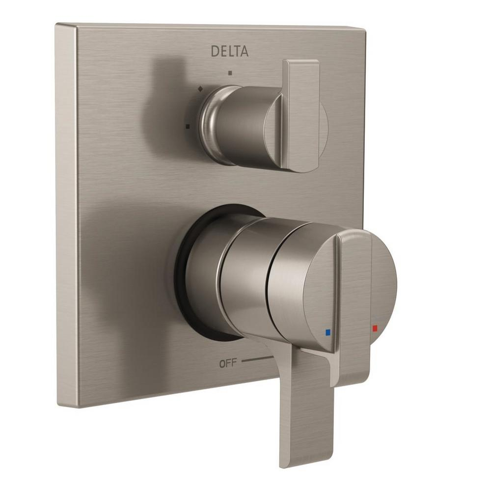 Delta Ara Modern 2 Handle Wall Mount Valve Trim Kit With 3 Setting