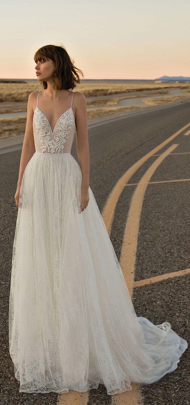 Flora Bride - Siren Of The Desert 2019 Bridal Collection, boho wedding dress, bohemian wedding gown ,a-line wedding dress,spaghetti straps wedding gown #wedding #weddingdress #weddinggown #bridedress