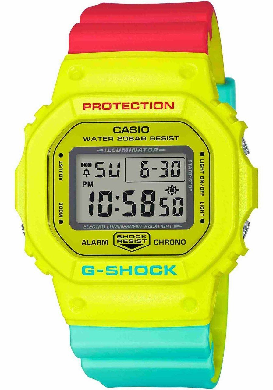 130644e0288132 G-Shock DW5600 Neon Rasta Edition in 2019 | Relojes | Casio g shock ...