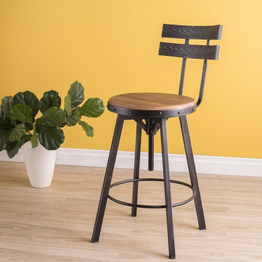 Henley Adjustable Swivel Bar Stool With Images Bar Stools