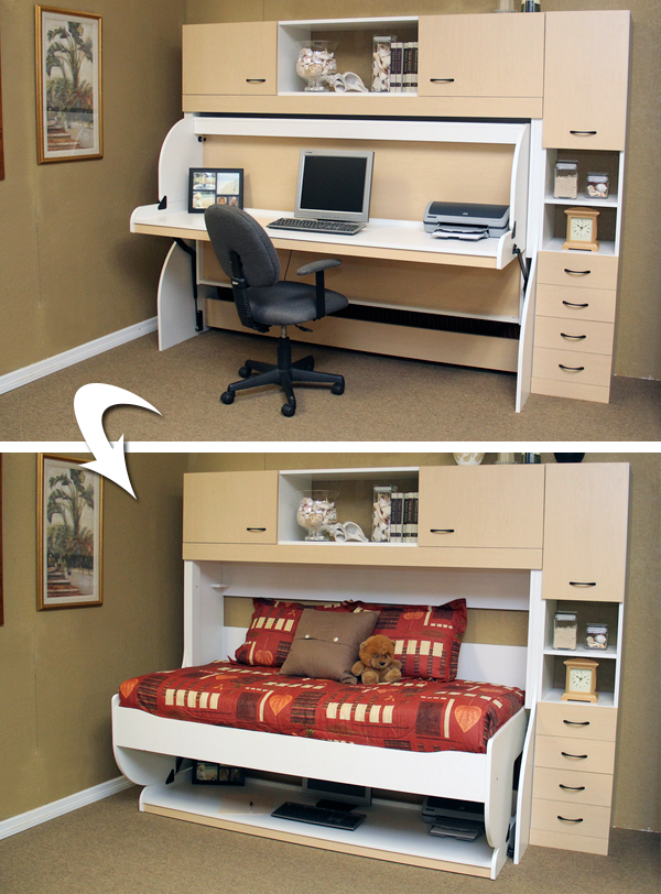 Perfect Storage Solution And Hidden Bed The Desk Bed Desks For Small Spaces Diy Storage Desk Convertible Furniture