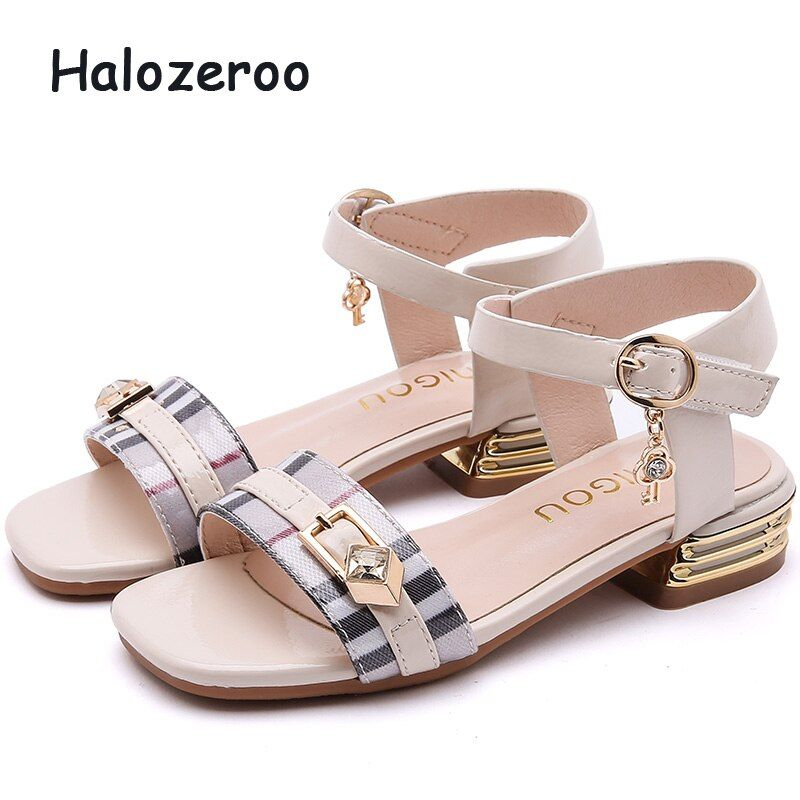 Girls Sandals Kids Diamante Buckle Strap Open Toe Casual Fashion Summer New
