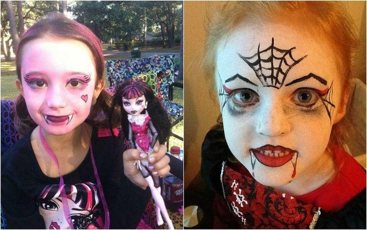 Maquillage Halloween fille  4 tutoriels super mignons à