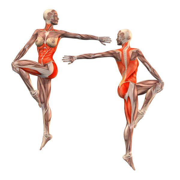 Dancing Shiva pose, left foot on right knee - Natarajasana right ...