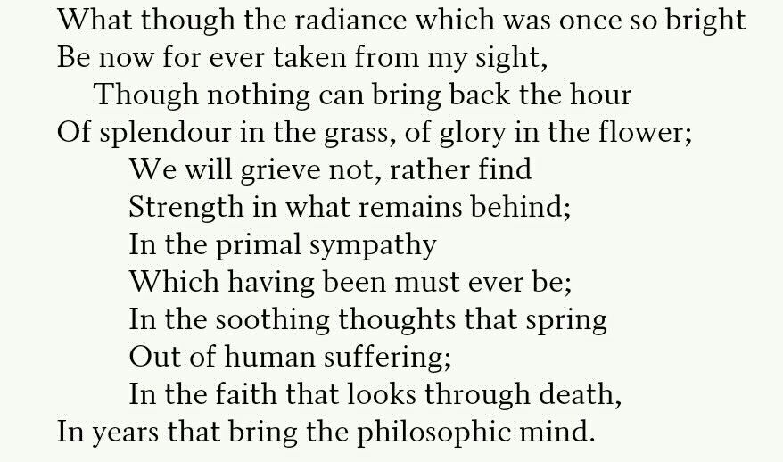 william wordsworth ode intimations of immortality