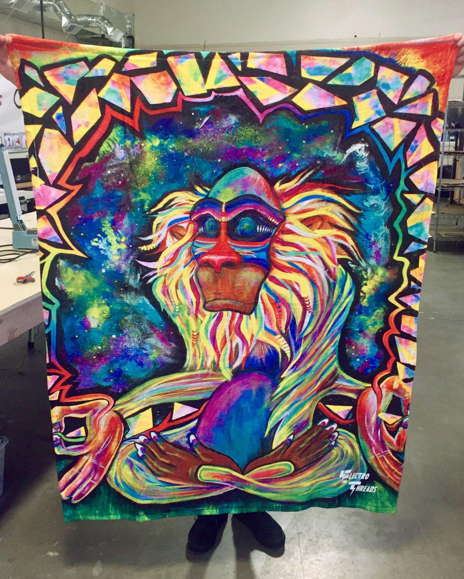 Meditating rafiki blanket cool artwork meditation room decor meditation pillow zen meditation