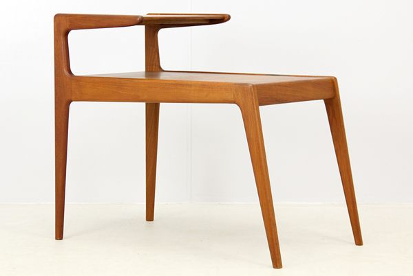 DK4010北欧家具サイドテーブル デンマークチーク材ウェグナー Scandinavian ¥32000円 〆03月18日