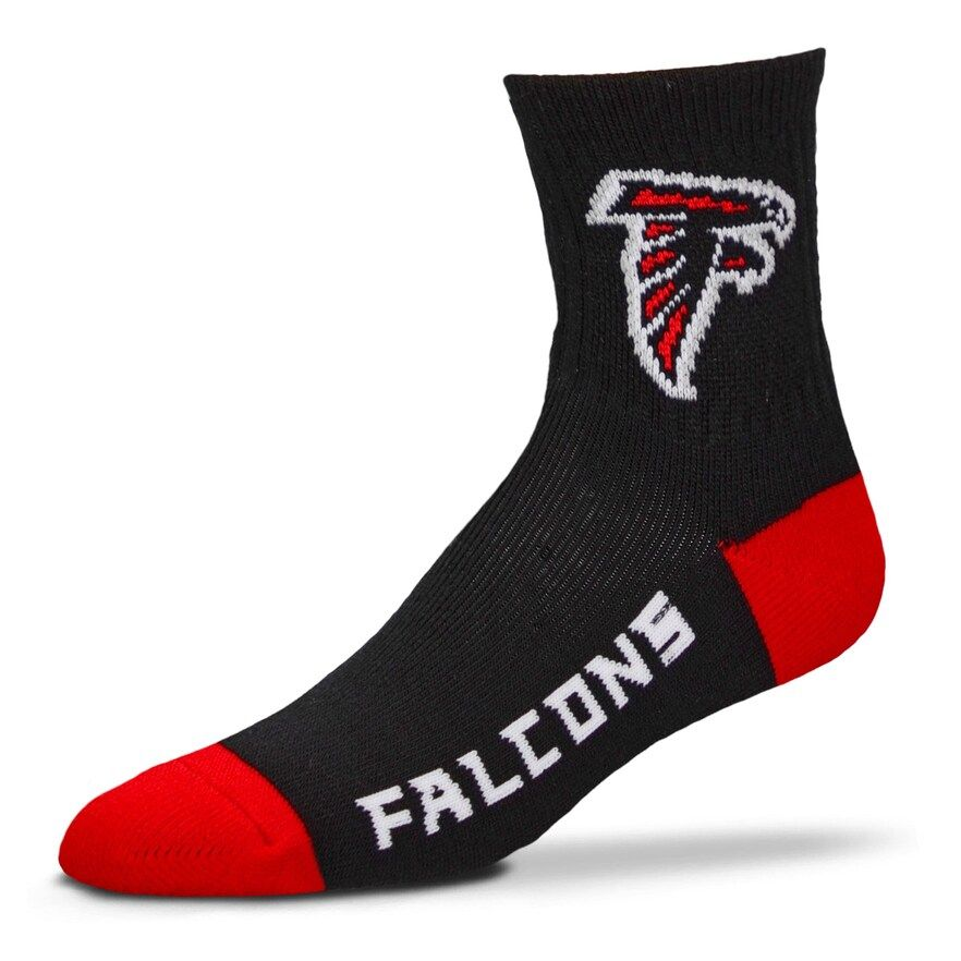 d4aa124a Adult For Bare Feet Atlanta Falcons Team Color Quarter-Crew Socks ...