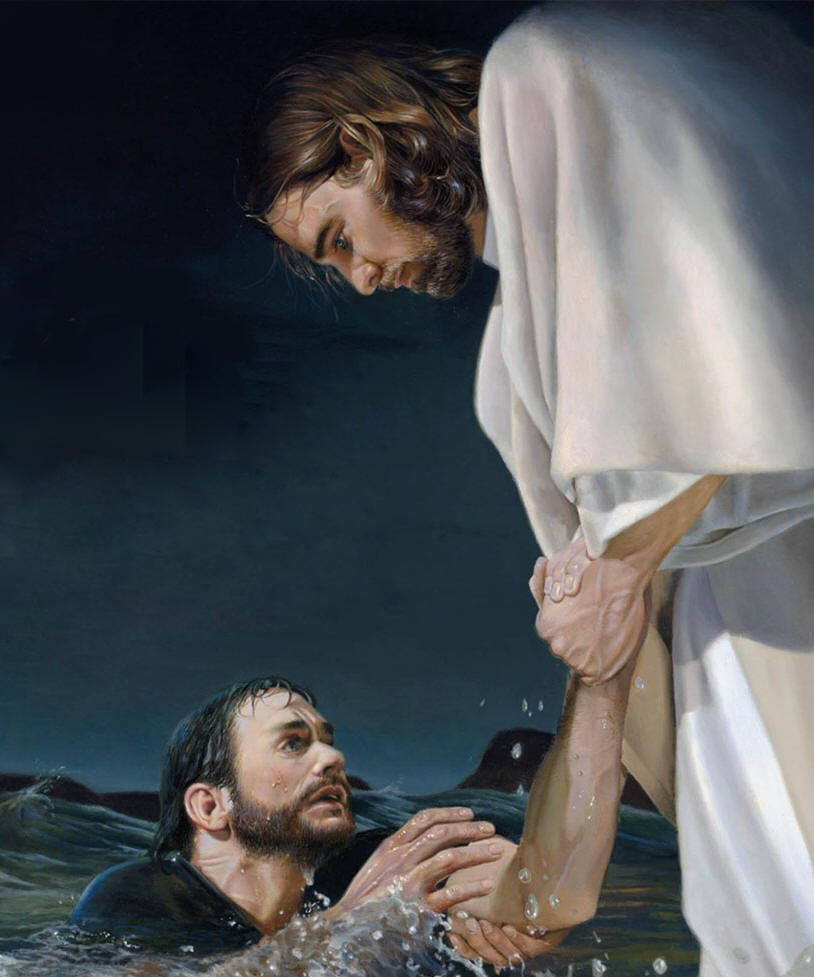 Image result for jesus pulling peter out from the storm