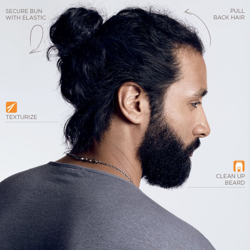 Redken Brews How To Cut And Style A Man Bun And Tidy Up A Beard A