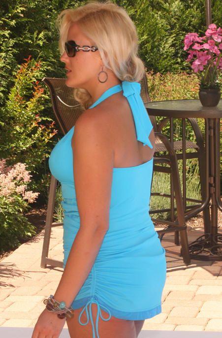 db2ab2860d9 Women s Plus Size Swimwear - Always For Me Chic Solids - Retro Halter  Swimdress