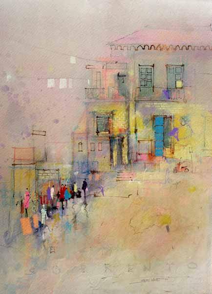 Watching Sorrento John Lovett Resimler Sanat Sulu Boya